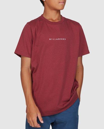 0 Boys Smitdog Short Sleeve Tee Red 8503020 Billabong
