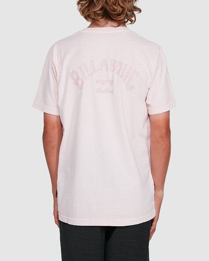 3 Boys Arch Overdye Short Sleeve Tee Pink 8503029 Billabong