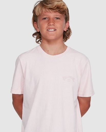 4 Boys Arch Overdye Short Sleeve Tee Pink 8503029 Billabong