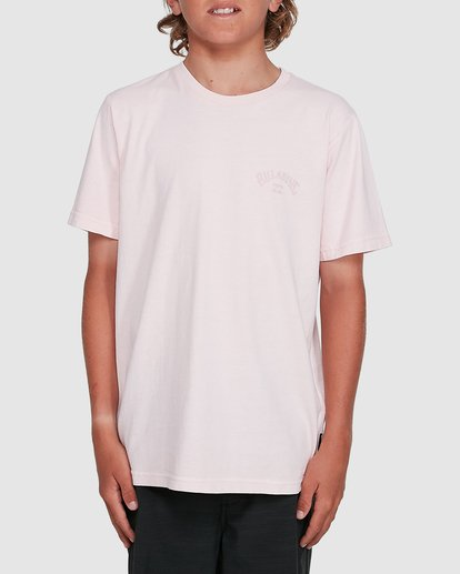 1 Boys Arch Overdye Short Sleeve Tee Pink 8503029 Billabong