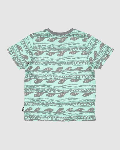 7 Boys Rack Stripe Short Sleeve Tee Green 8503030 Billabong
