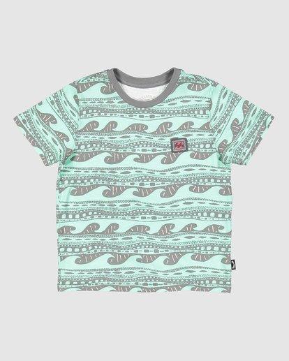 6 Boys Rack Stripe Short Sleeve Tee Green 8503030 Billabong