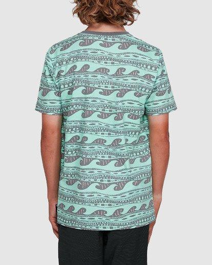 3 Boys Rack Stripe Short Sleeve Tee Green 8503030 Billabong
