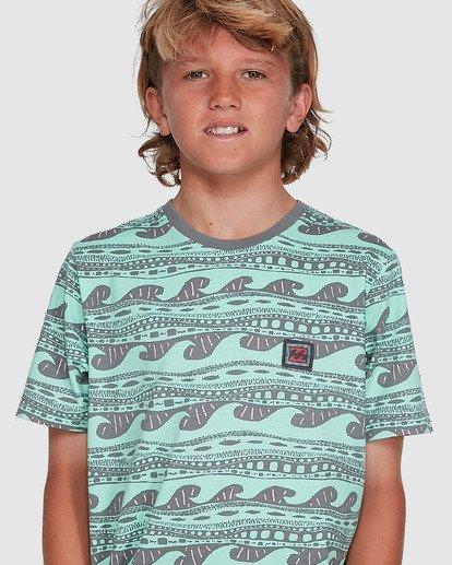 4 Boys Rack Stripe Short Sleeve Tee Green 8503030 Billabong