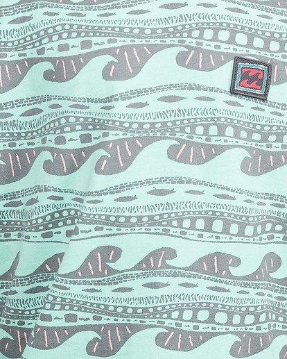 5 Boys Rack Stripe Short Sleeve Tee Green 8503030 Billabong