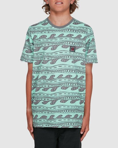1 Boys Rack Stripe Short Sleeve Tee Green 8503030 Billabong