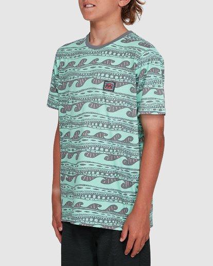 2 Boys Rack Stripe Short Sleeve Tee Green 8503030 Billabong