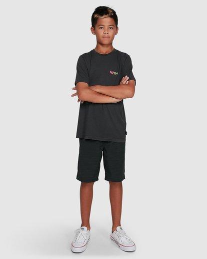 9 Boys Mondo Short Sleeve Tee Black 8503031 Billabong