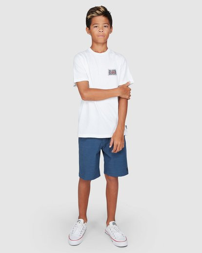 9 Boys Shadows Short Sleeve Tee White 8503034 Billabong