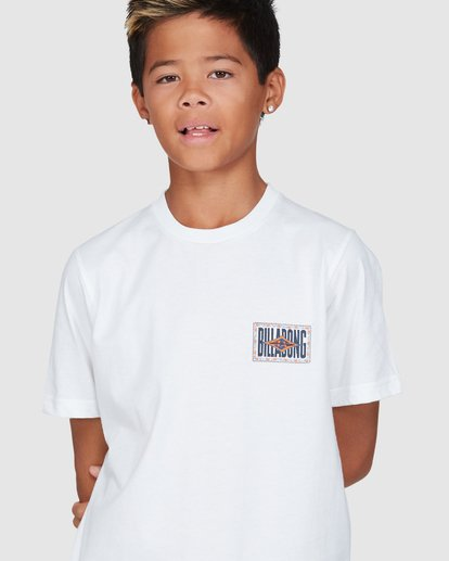 4 Boys Shadows Short Sleeve Tee White 8503034 Billabong