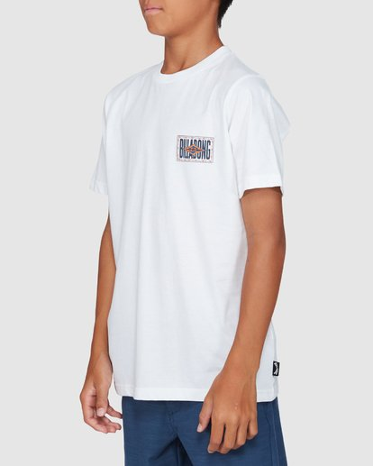 2 Boys Shadows Short Sleeve Tee White 8503034 Billabong