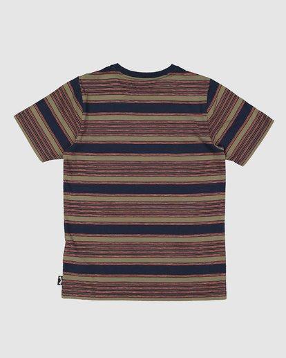 7 Boys Mix Up Stripe Short Sleeve Tee Blue 8503037 Billabong