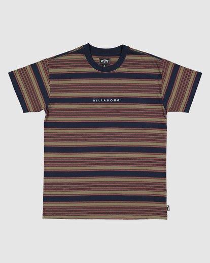 6 Boys Mix Up Stripe Short Sleeve Tee Blue 8503037 Billabong