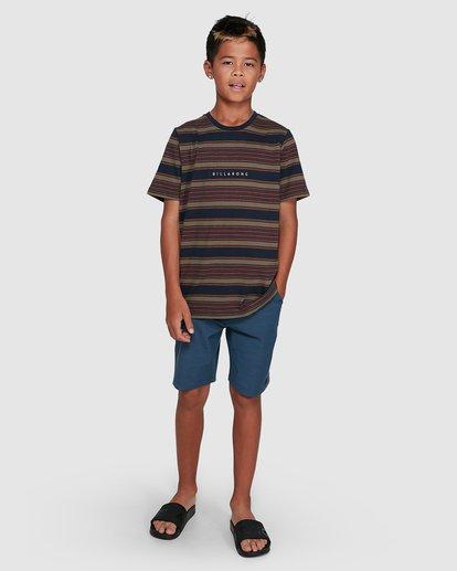 9 Boys Mix Up Stripe Short Sleeve Tee Blue 8503037 Billabong