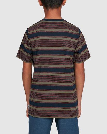3 Boys Mix Up Stripe Short Sleeve Tee Blue 8503037 Billabong