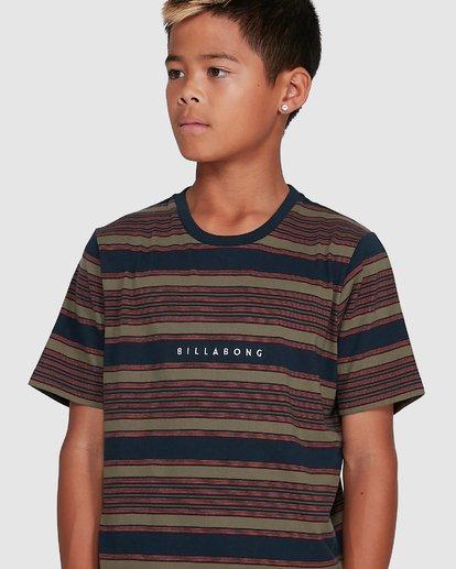 4 Boys Mix Up Stripe Short Sleeve Tee Blue 8503037 Billabong