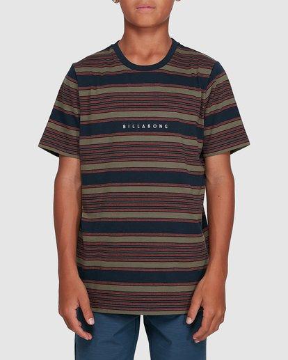 1 Boys Mix Up Stripe Short Sleeve Tee Blue 8503037 Billabong