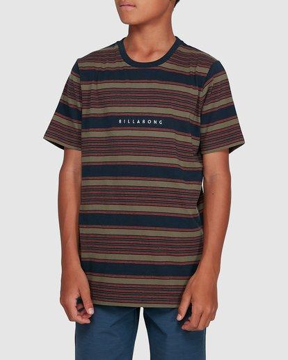0 Boys Mix Up Stripe Short Sleeve Tee Blue 8503037 Billabong