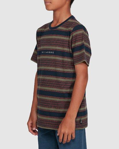 2 Boys Mix Up Stripe Short Sleeve Tee Blue 8503037 Billabong