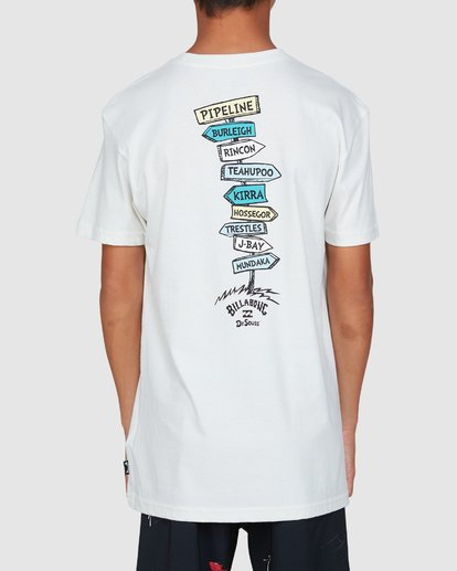 3 Dr. Seuss Boys From Here To There Tee White 8503081 Billabong