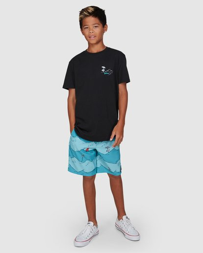 9 Dr. Seuss Boys Red Fish Tee Black 8503082 Billabong