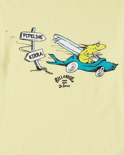 8 Dr. Seuss Boys Little Car Tee Yellow 8503180 Billabong