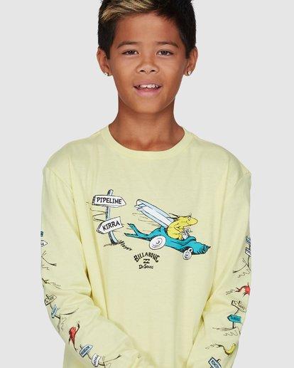 4 Dr. Seuss Boys Little Car Tee Yellow 8503180 Billabong