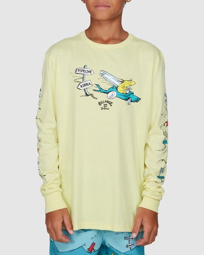 1 Dr. Seuss Boys Little Car Tee Yellow 8503180 Billabong