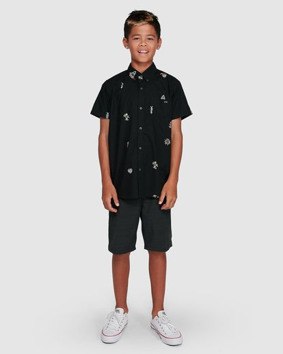 9 Boys Sundays Mini Short Sleeve Shirt Multicolor 8503203 Billabong