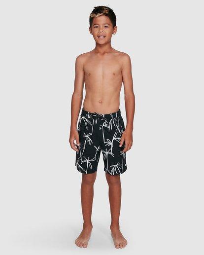 14 Boys Sundays Layback Boardshorts Black 8503430 Billabong