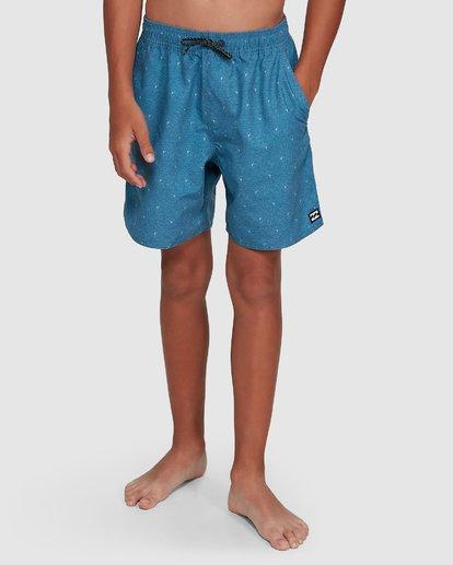 9 Boys All Day Mini Mark Layback Boardshorts Blue 8503433 Billabong