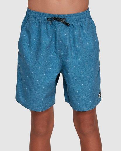 0 Boys All Day Mini Mark Layback Boardshorts Blue 8503433 Billabong