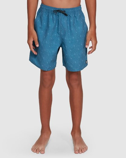 6 Boys All Day Mini Mark Layback Boardshorts Blue 8503433 Billabong