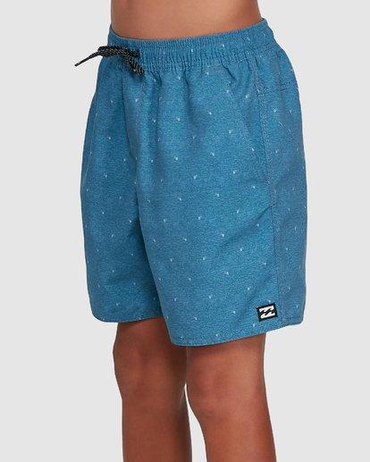 1 Boys All Day Mini Mark Layback Boardshorts Blue 8503433 Billabong