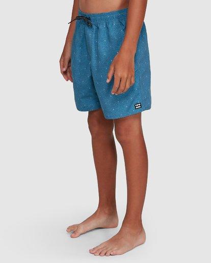 7 Boys All Day Mini Mark Layback Boardshorts Blue 8503433 Billabong
