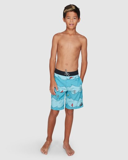 13 Dr. Seuss Boys One Fish Two Fish Layback Blue 8503482 Billabong
