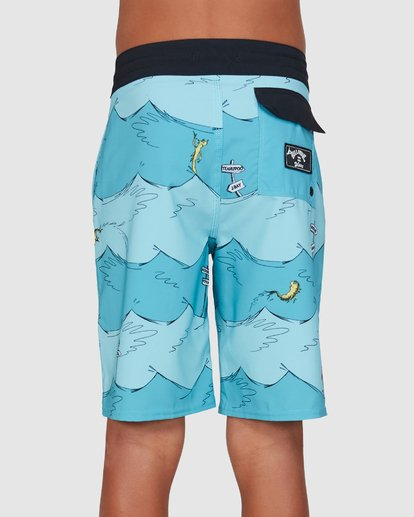 2 Dr. Seuss Boys One Fish Two Fish Layback Blue 8503482 Billabong