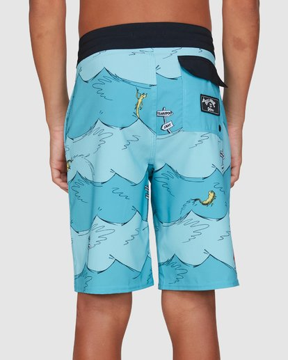 5 Dr. Seuss Boys One Fish Two Fish Layback Blue 8503482 Billabong