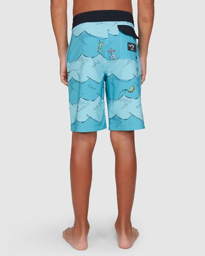 8 Dr. Seuss Boys One Fish Two Fish Layback Blue 8503482 Billabong