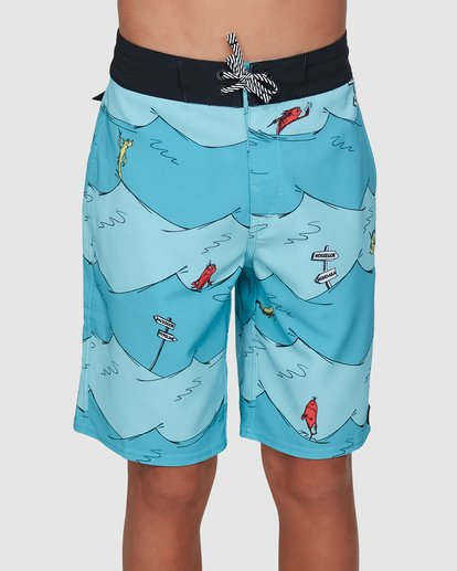 0 Dr. Seuss Boys One Fish Two Fish Layback Blue 8503482 Billabong