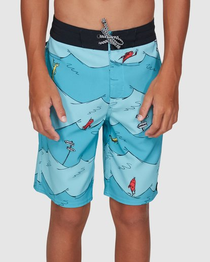 3 Dr. Seuss Boys One Fish Two Fish Layback Blue 8503482 Billabong