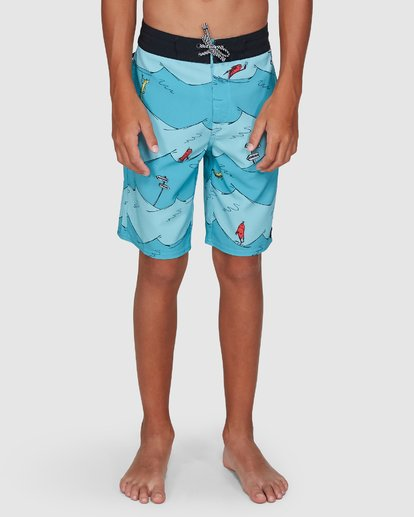 6 Dr. Seuss Boys One Fish Two Fish Layback Blue 8503482 Billabong