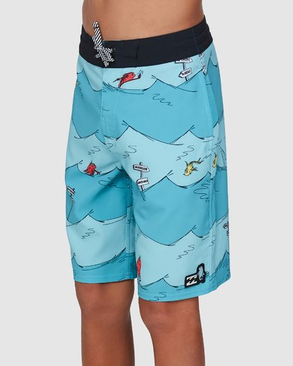 1 Dr. Seuss Boys One Fish Two Fish Layback Blue 8503482 Billabong