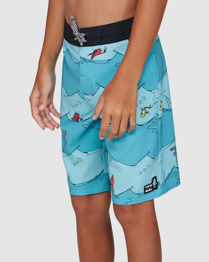4 Dr. Seuss Boys One Fish Two Fish Layback Blue 8503482 Billabong