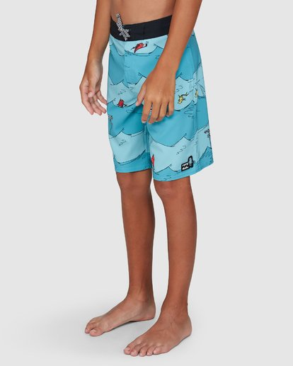 7 Dr. Seuss Boys One Fish Two Fish Layback Blue 8503482 Billabong