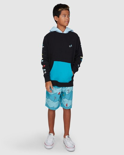 9 Dr. Seuss Boys One Fish Two Fish Pullover Black 8503680 Billabong