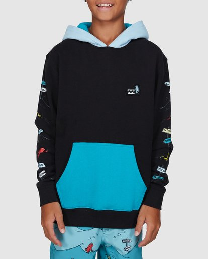 1 Dr. Seuss Boys One Fish Two Fish Pullover Black 8503680 Billabong