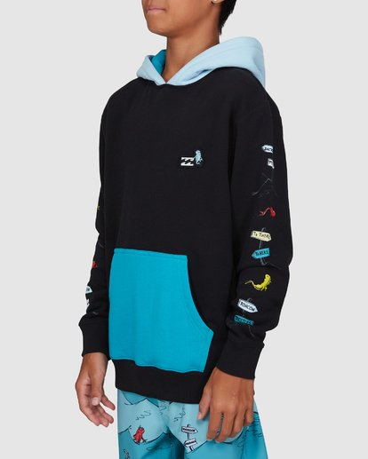 2 Dr. Seuss Boys One Fish Two Fish Pullover Black 8503680 Billabong
