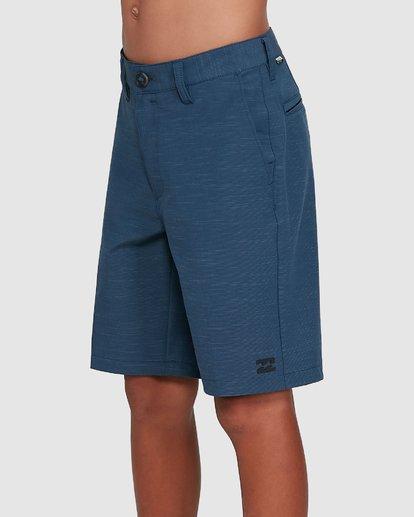 1 Boys Crossfire Slub Shorts Blue 8503700 Billabong