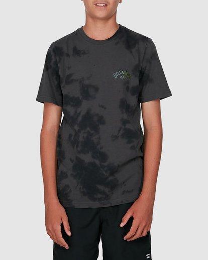 0 Boys Arch Dye Short Sleeve Tee Black 8504005 Billabong